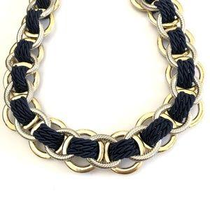 Banana Republic Jewelry - Banana Republic Double Link Rope Necklace NAVY NWT